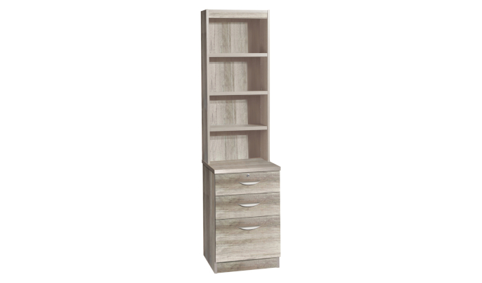 Three Drawer Unit/ Filing Cabinet With OSC Hutch