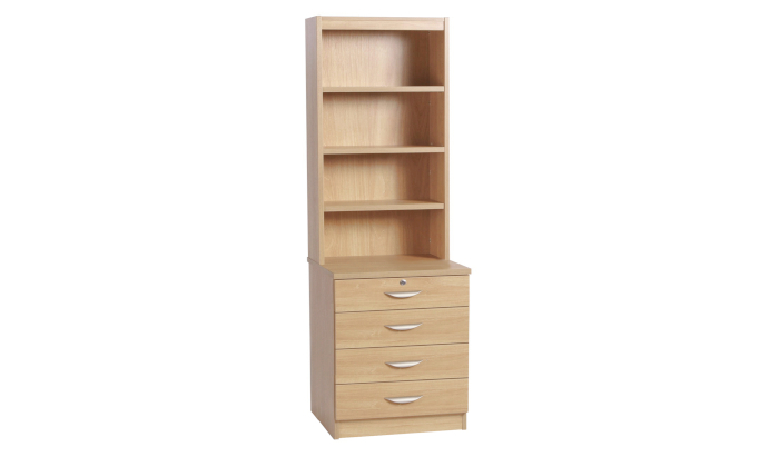 Four Drawer Chest With OSD Hutch