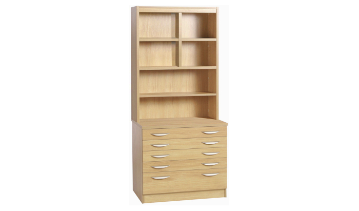 A2 Plan Chest With Deep Lower Drawer And OSF Hutch