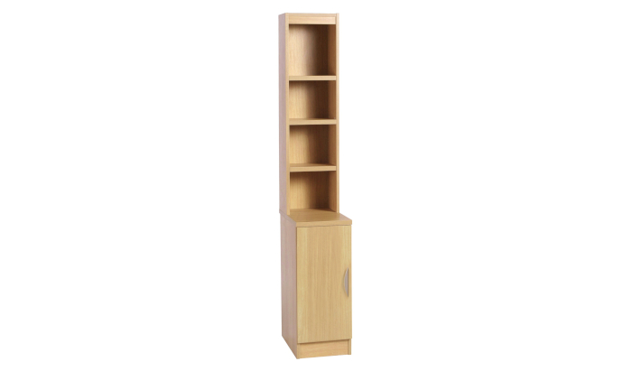 Desk Height Cupboard 300mm Wide With OSB Hutch