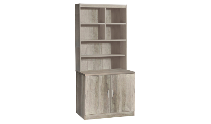 Desk Height Cupboard 850mm Wide With OSF Hutch