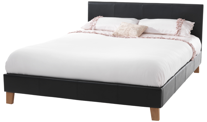 Small Double Bedstead in Black