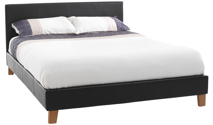 Small Double Bedstead in Brown